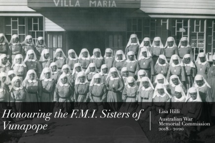 'Honouring the F.M.I. Sisters of Vunapope': Reflections on Lisa Hilli's Keynote for the 'Sharing Pacific Lives in Australia' Workshop